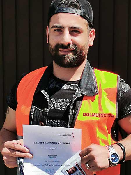 Notfalldolmetscher Khalil Bakr