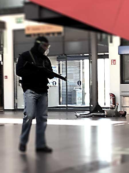 Anti Terror Übung Flughafen Saarbrücken