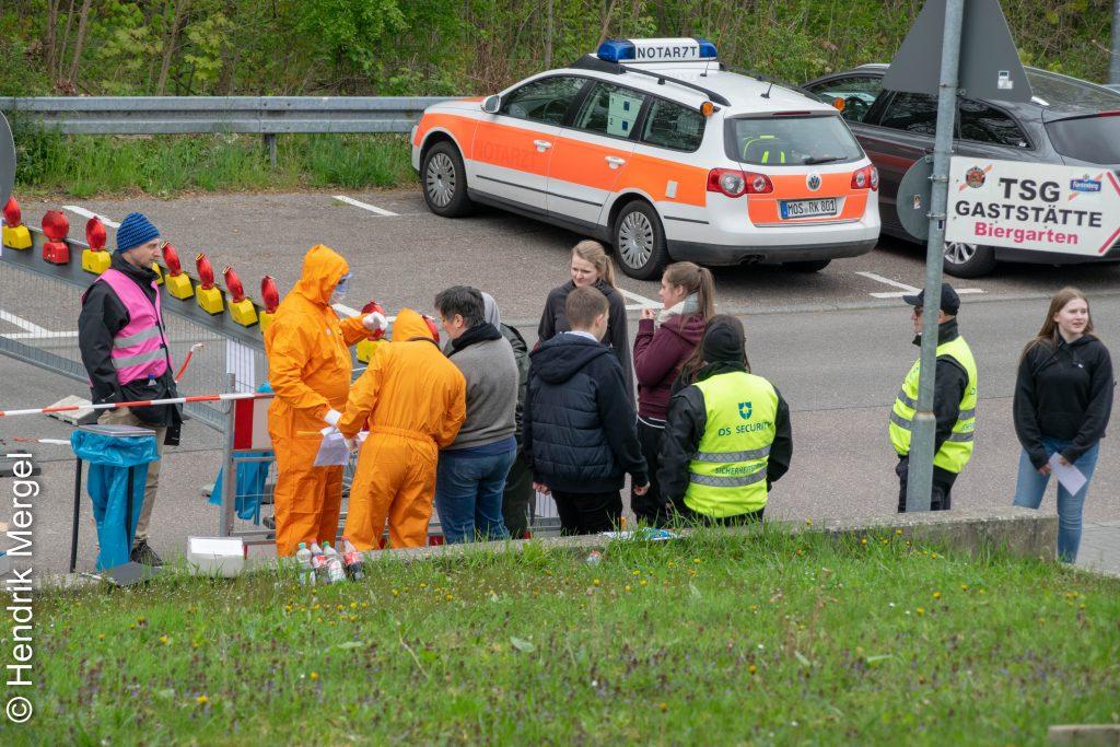 CBRN Übung Notfallstation Wiesloch Eingang