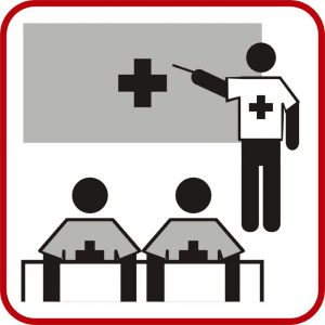 Piktogramm rot Ausbildung