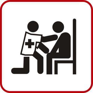 Piktogramm rot Betreuung